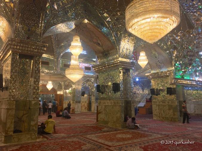 Inside the shrine of Shah Cheragh