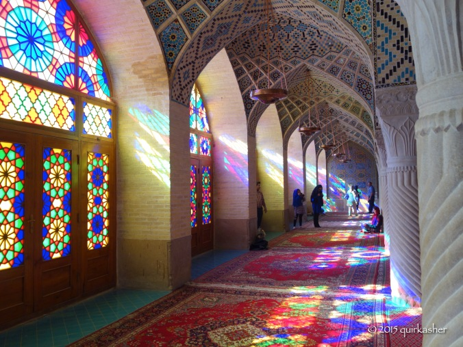In the prayer hall of Nasir-ol-Molk Mosque