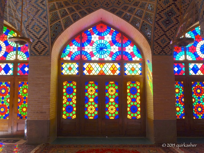 Colourful glass window of Nasir-ol-Molk Mosque