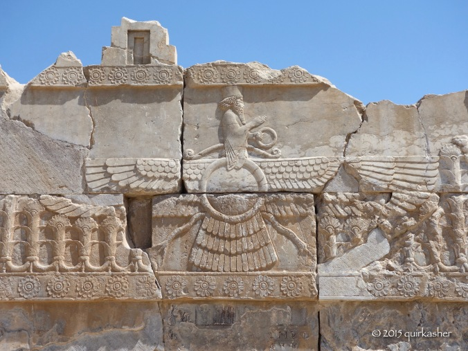 The Faravahar, the symbol of Zoroastrianism, showing that the Achaemenids were Zoroastrians