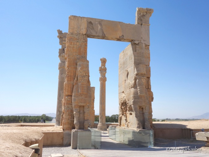 Another side of the Gate of All Nations with better preserved lamassus