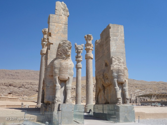 Entering Persepolis by the Gate of All Nations like the ambassadors of old