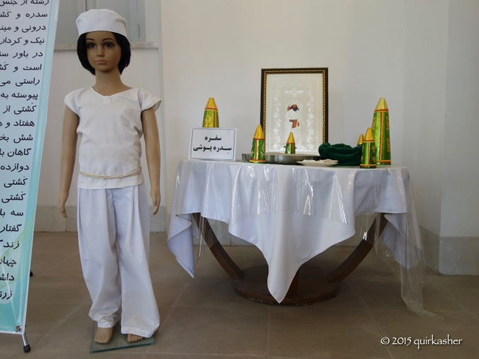 Model of a Zoroastrian child at his initiation into the religion