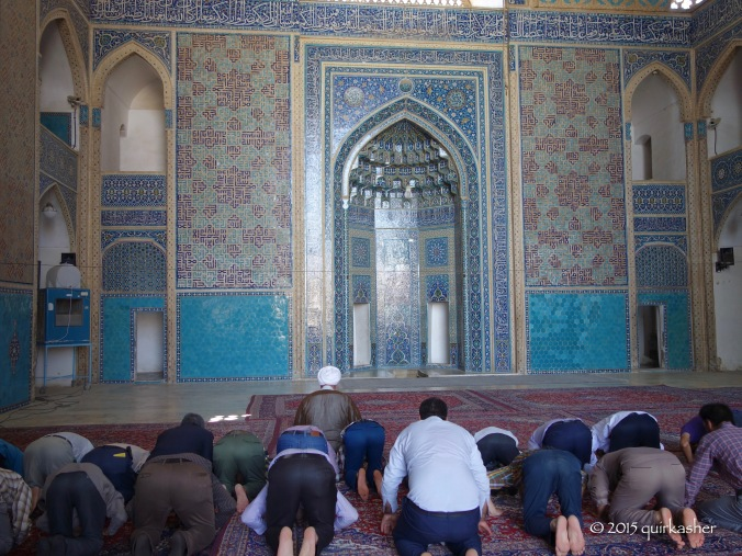 Mid-day prayer at the Jame Mosque