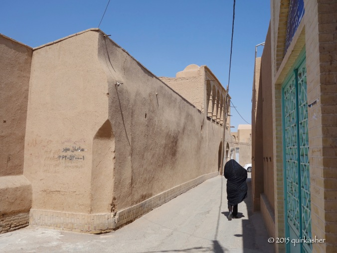 Walking down a narrow alley in the old city