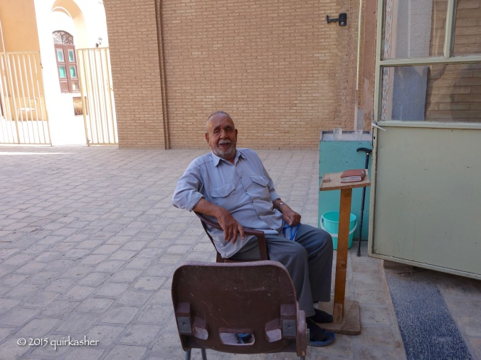 Mausoleum caretaker who is in his 90s