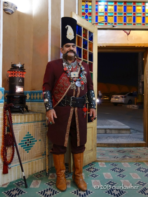 Smart looking guard of the Moshir Al Mamalek Hotel