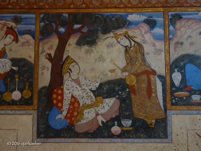 Wall painting in Chehel Sotoun
