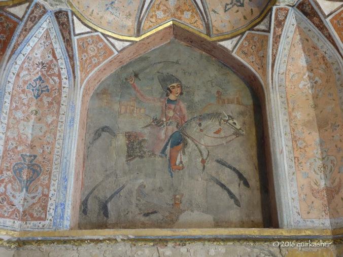 Wall painting of Hasht Behesht