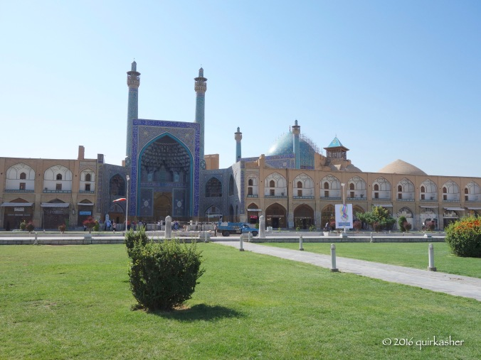 Imam Mosque (the goal posts for polo games can still be seen at the end of the path towards the mosque)