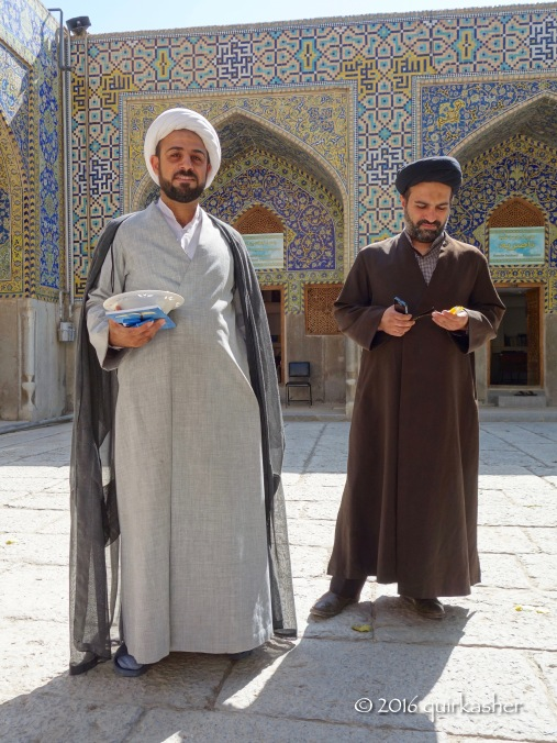 Clerics at Imam Mosque