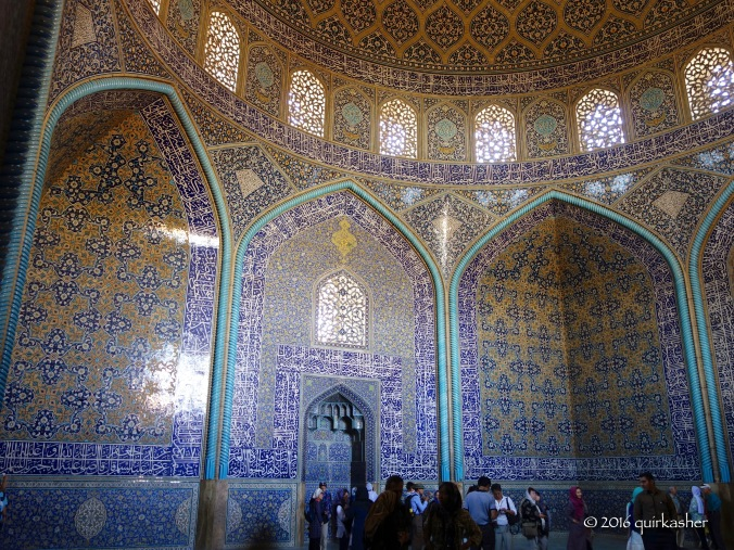 In the Sheikh Lotfollah Mosque