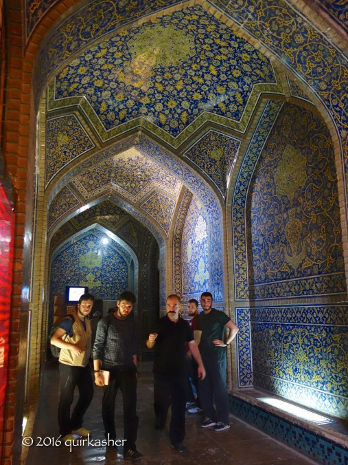 Entering the Sheikh Lotfollah Mosque