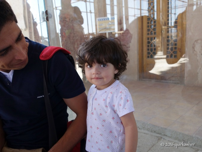 Little girl visiting Ali Qapu Palace