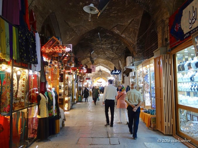 Inside the arcade of the Imam Square