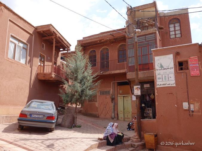 Abyaneh ladies chatting