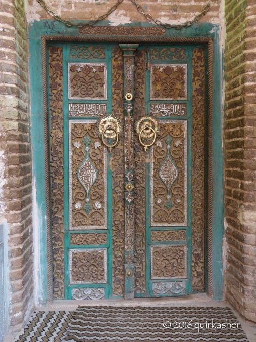 Door of Abyaneh's Jameh Mosque