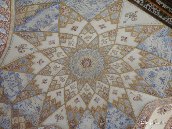Ceiling of one of the buildings in Fin Garden