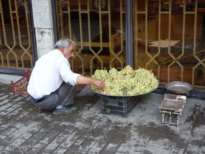 Grape seller on the street