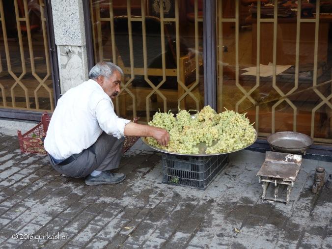Grape seller on the street