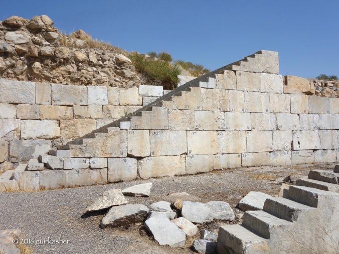 Restored ceremonial stairway
