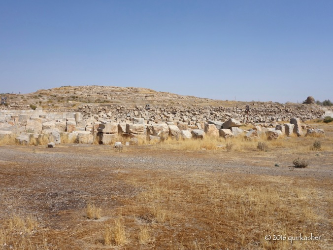 Remains of Anahita temple in Kangavar