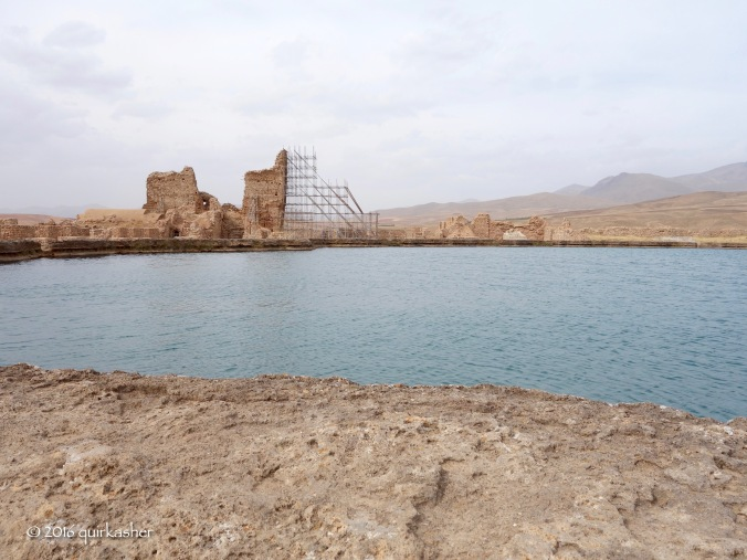 By the crater lake of Takht-e Soleyman