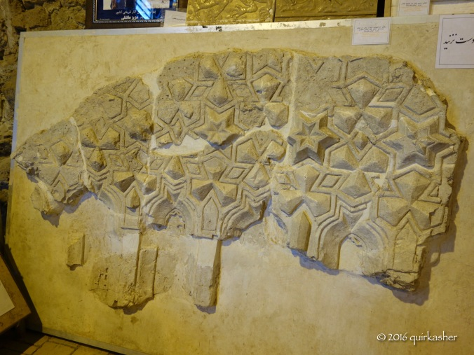 Remains of decorations now in the on-site museum
