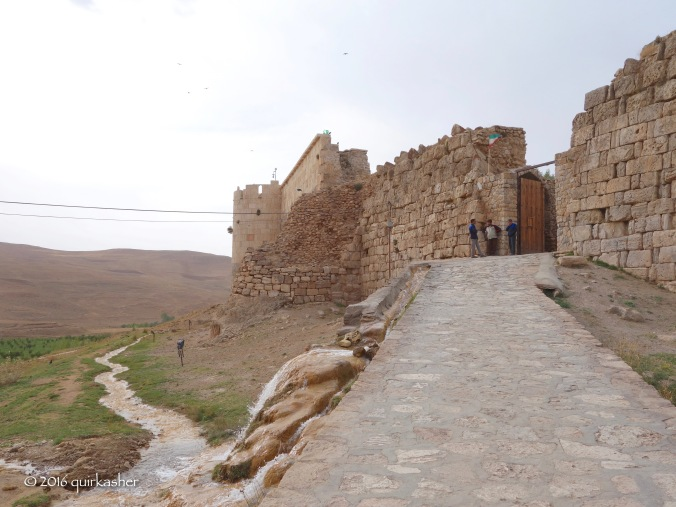 Entering through the walls of Takht-e Soleyman