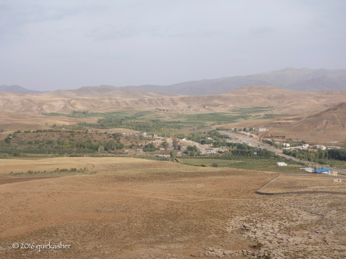 View from the top of Zendan-e Soleyman