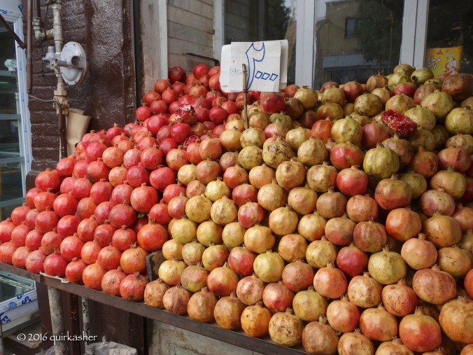 Pomegranates on sale at Zanjan bazaar