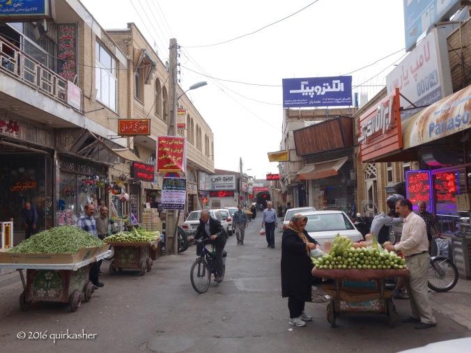 Alley outside the Zanjan bazaar