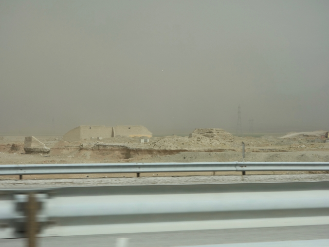Sandstorm in the distance