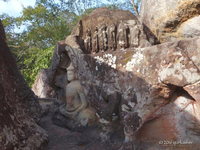 Religious carvings at Phu Phra Bat Historical Park