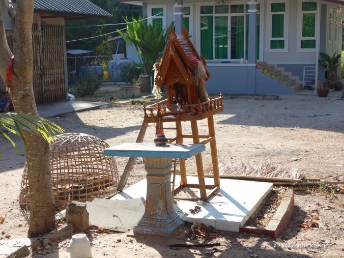 Spirit house in Ban Prasat