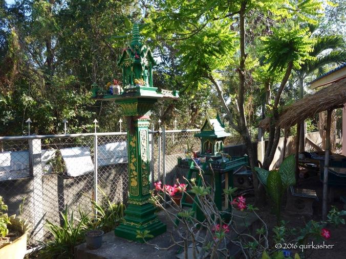 Spirit houses in Ban Prasat