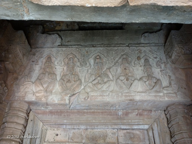 Carved lintel inside the temple