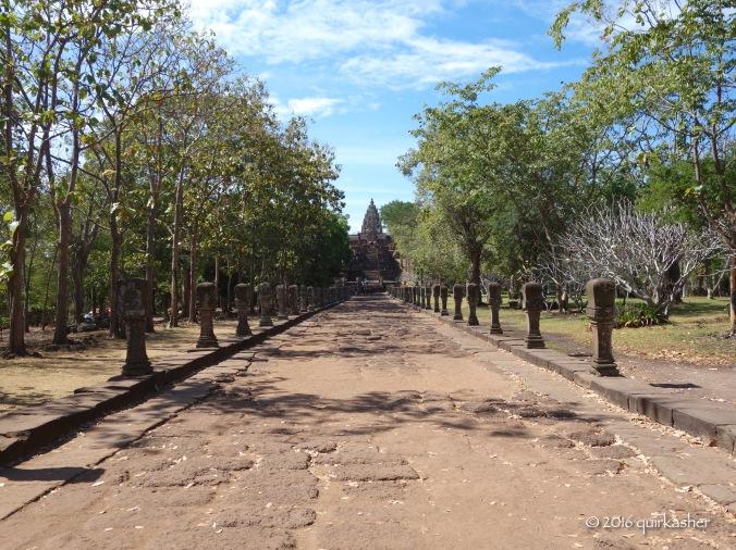 Processional walkway leading to main part of Prasa Hin Phanom Rung
