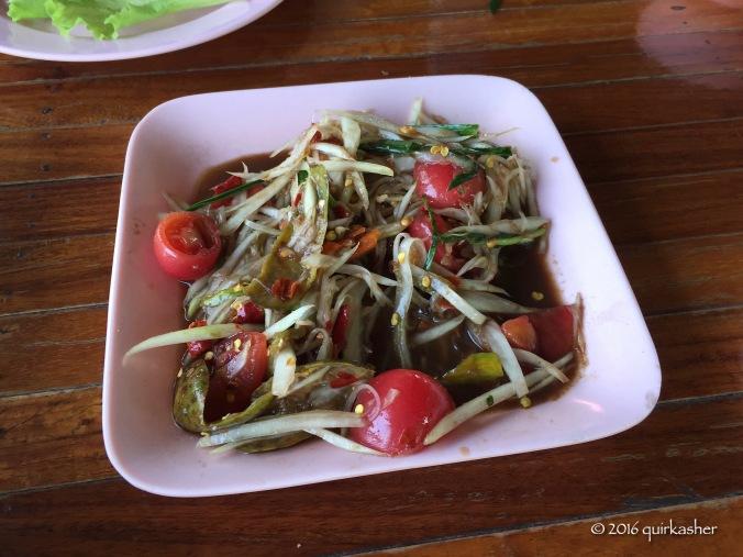 Papaya salad Isaan-style