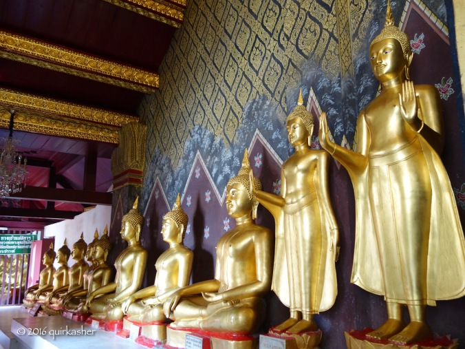 One of the galleries of Buddhas in Wat Yai
