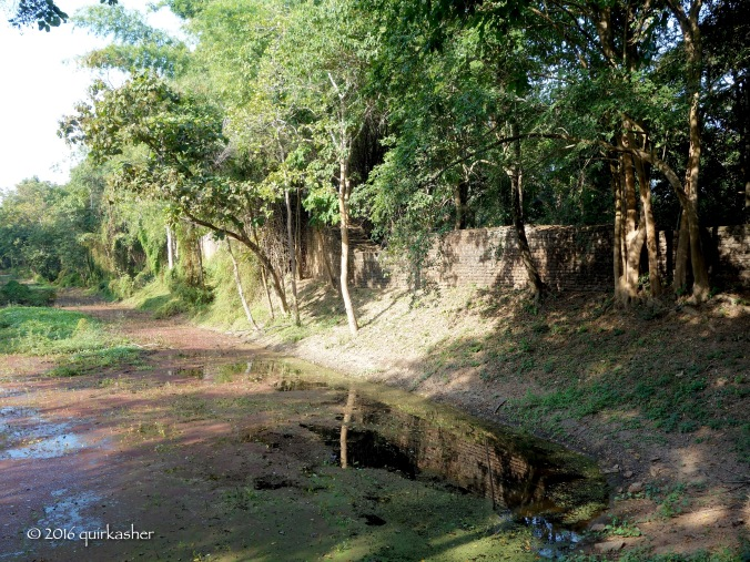 Remains of wall and moat of Si Satchanalai