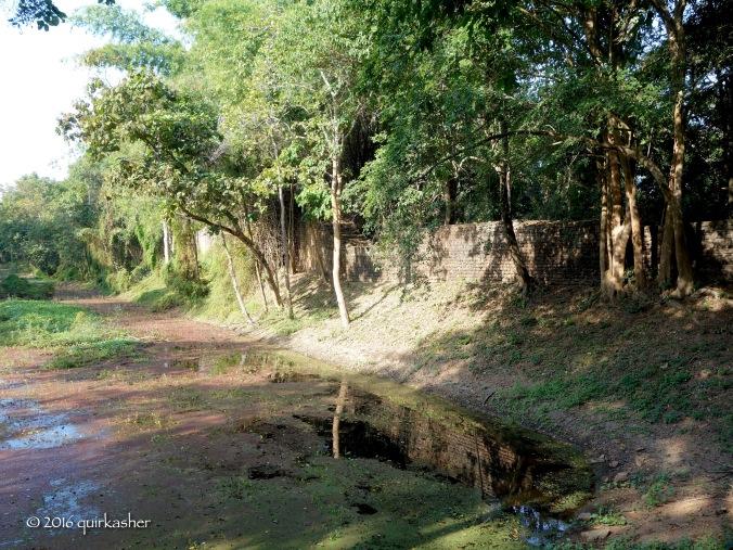 Remains of wall and moat of Si Satchanalai
