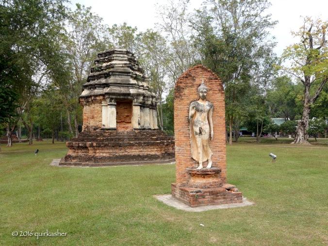 Walking Buddha image at Wat Traphang Ngoen