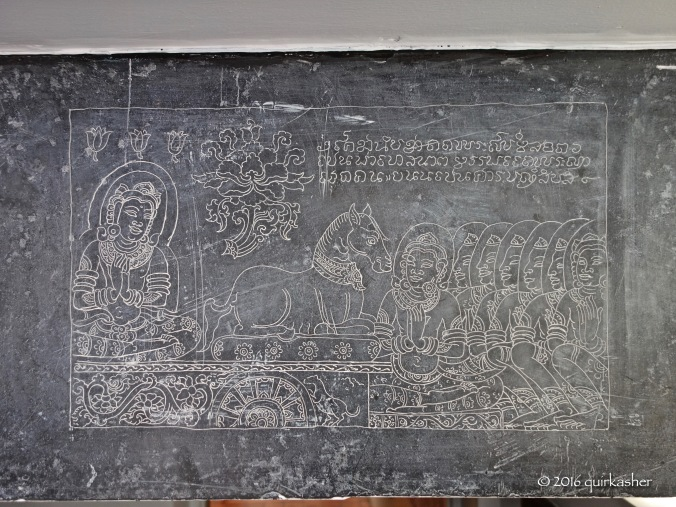 One of the recreated Wat Si Chum engravings