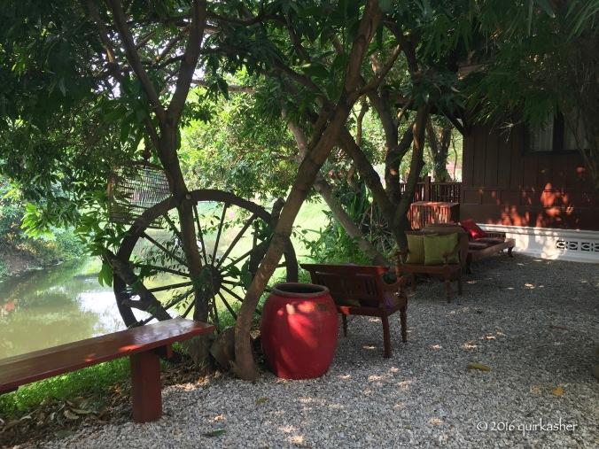 Quiet corner in the resort