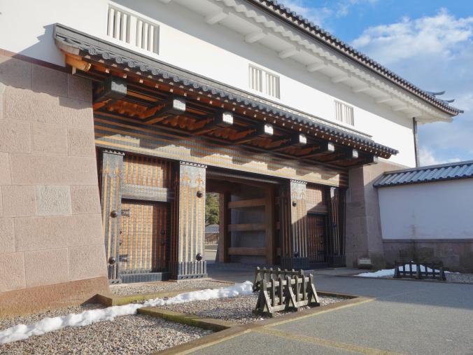 One of the stylish gates of Kanazawa Castle