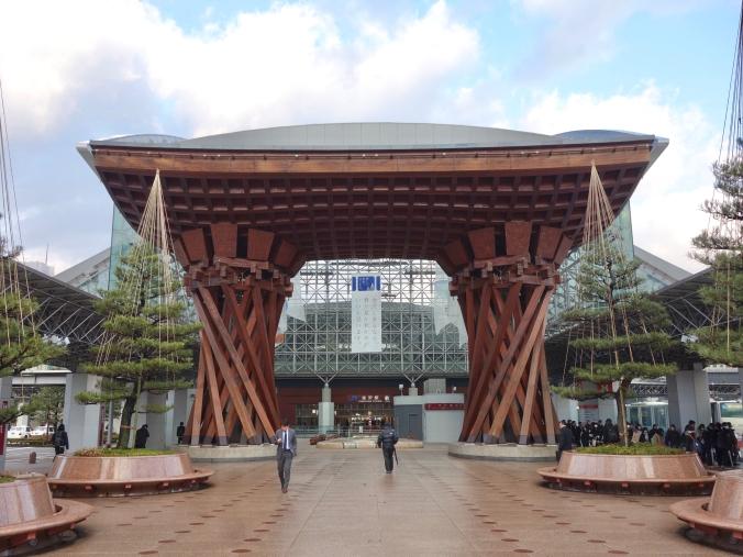 Tsuzumimon outside Kanazawa Station