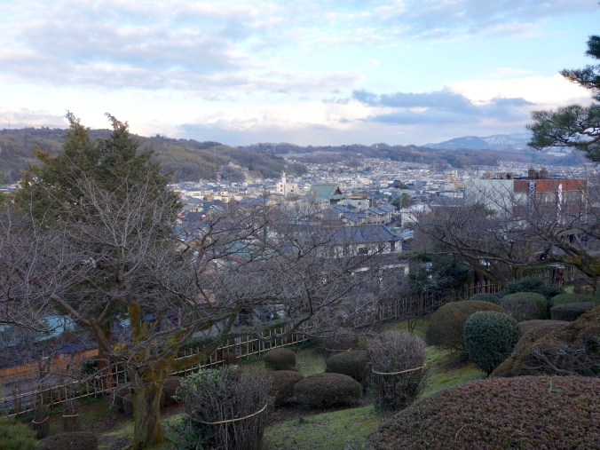 View of the city from Kenrokuen